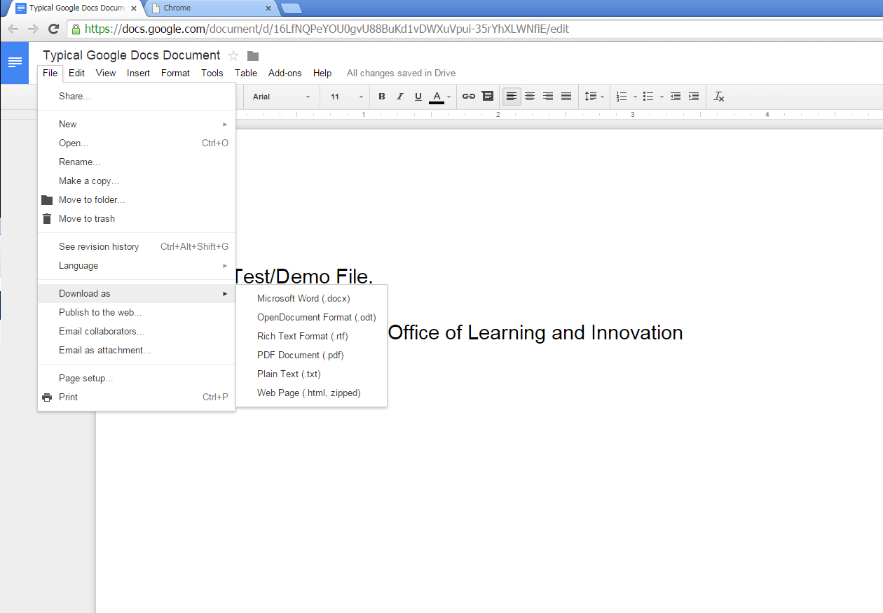 How To Convert To Docx Center For Online Learning Innovation - Docx to google docs