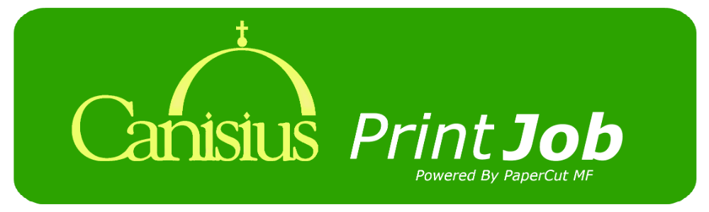 Canisius PrintJob - Click on a button below.