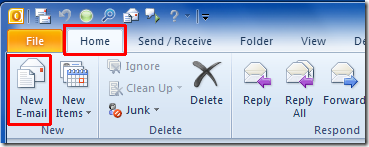 Creating an email template in Outlook 2010 - Faculty and Staff Email ...